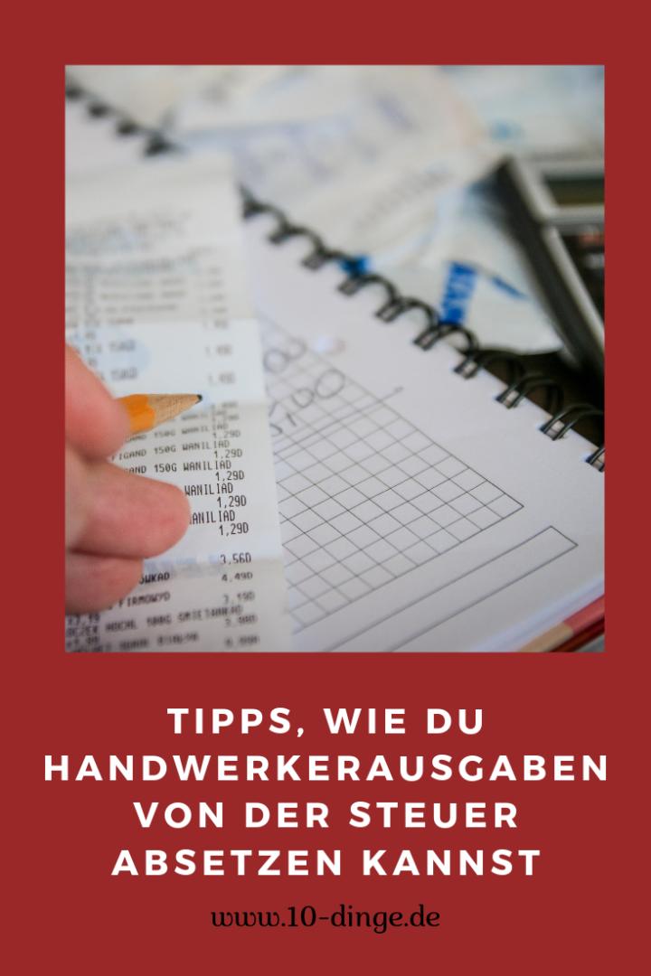 Tipps, wie Du Handwerkerausgaben von der Steuer absetzen kannst