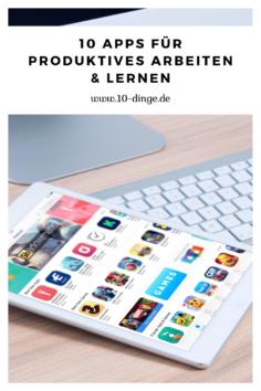10 Apps für produktives Arbeiten & Lernen
