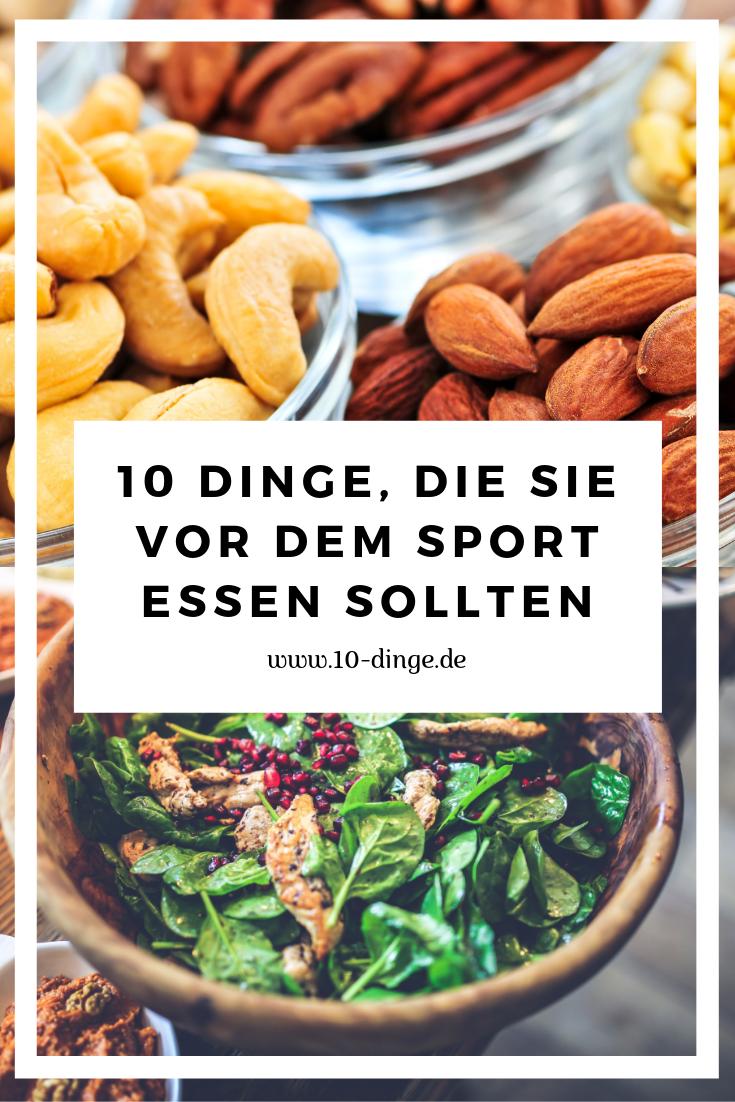 10 Dinge, die Sie vor dem Sport essen sollten