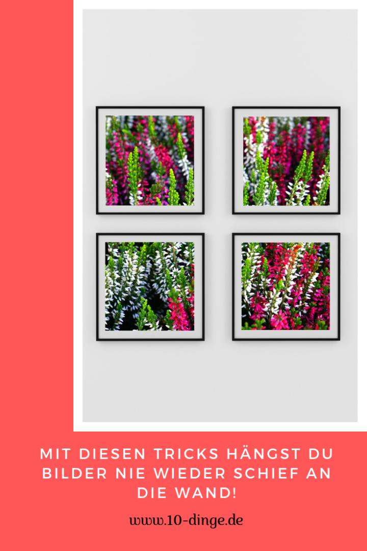 Mit diesen Tricks hängst Du Bilder nie wieder schief an die Wand!