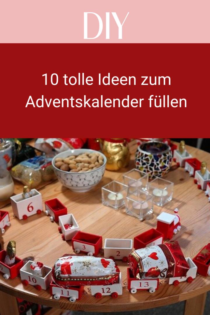 10 tolle Ideen zum Adventskalender füllen