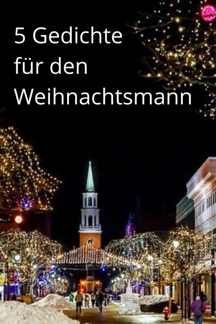 5 Gedichte für den Weihnachtsmann