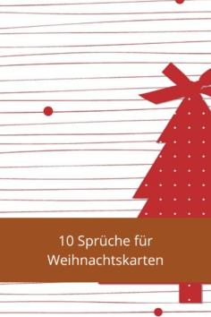 10 Sprüche für Weihnachtskarten